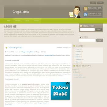 Organica blogger template converted wordpress theme to blogger template with clean template blog. clean organica blogspot template