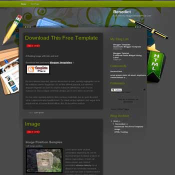 Benedict blogger template converted wordpress theme to blogger template. elegant blogger template. blogger template from wordpress theme. blogspot template from wordpress theme. black template blog