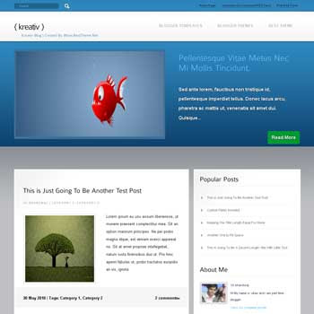 Kreativ template blogger converted from wordpress theme to blogger template with featured content blogger template. magazine style template blogger template. featured content template blogspot. template blog from wordpress theme
