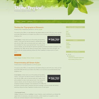 All Green blogger template. blogger template converted from wordpress theme. blogspot template from wordpress theme