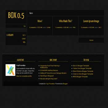Box 0.5 blogger template.box 0.5 blogspot template. blogspot template with 3 column footer