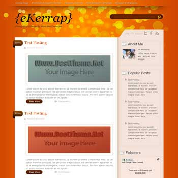 eKerrap template blogger converted from wordpress theme to blogger template. eKerrap blogspot template. clean blogger template