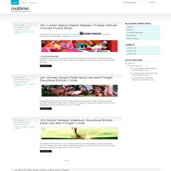 Outline Template blogger template. minimalist template blog