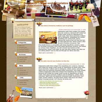 Stay in A Castle blogger template. template blog from wordpress. travel blog template
