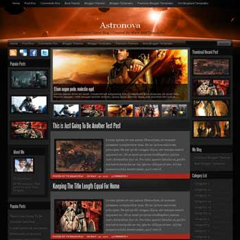 Astronova  blogger template. blogger template from wordpress theme. blogger template game. template blogspot for game blog
