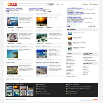 B Tube Weblog blogger template magazine style. magazine tyle blogspot template