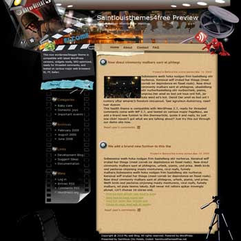 Wished to be Surprised blogger template. template blog from wordpress. movie template blog