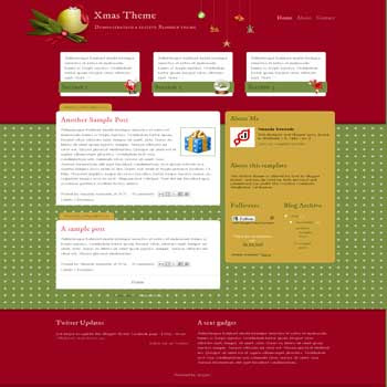 Blogger Buster Christmas blogger template. 3 column blogger template. Christmas blogger template, 2 column footer blogger template