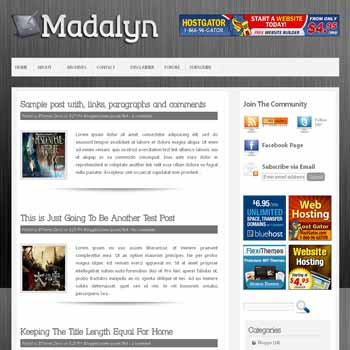Madalyn blogger template with image slideshow template and pagination for blogger ready. 4 column footer blogger template