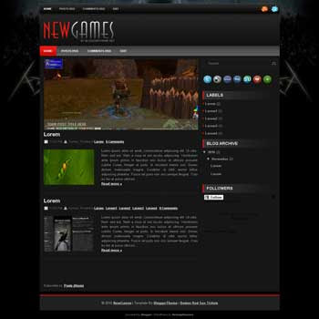 NewGames blogger template converted wordpress theme to blogger template. image slideshow blogger template. game blogger template. image slideshow blogspot template. game blogspot template