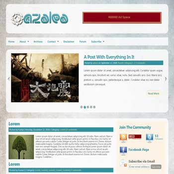 Azalea blogger template converted wordpress theme to blogger template. image slideshow blogger template. game blogger template. image slideshow blogspot template. game blogspot template