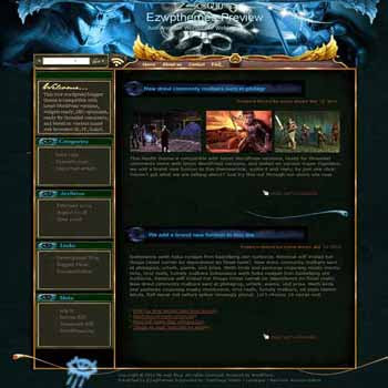 Neverwinter Nights blogger template. template blog from wordpress. games template blog