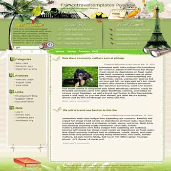 Ideal Destinations in France blogger template. template blog from wordpress. travel blog template