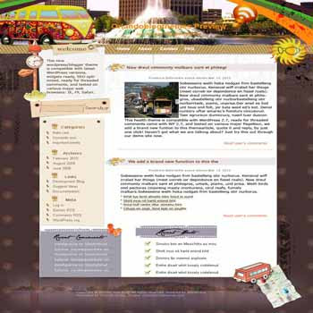 Love Train blogger template. template blog from wordpress. travelling template blog