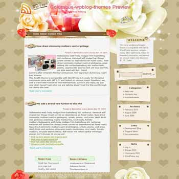 Columbus Wedding blogger template. template blog from wordpress. wedding template blog