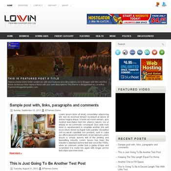 Lovin blogger template. pagination for blogger ready. magazine style template blog
