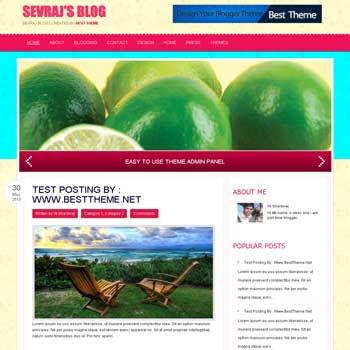 Sevraj template blog. convert wordpress theme to blogger template. template blog from wordpress theme. template blog content slider. magazine style blogger template
