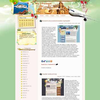 Fly 2 Portugal. template blog from wordpress. travel blog templateFly 2 Portugal. template blog from wordpress. travel blog template