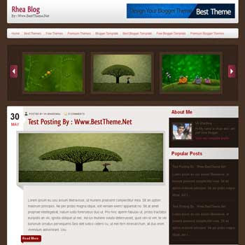 Rhea template blog. convert wordpress theme to blogger template. template blog from wordpress theme. template blog content slider. magazine style blogger template