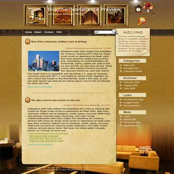 Luxury Atlanta blogger template. template blog from wordpress