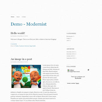 Modernist blogger template convert from wordpress theme to blogger. minimalist blogger template