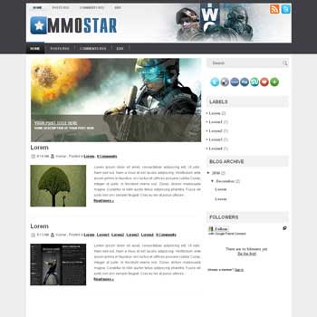 MMOStar blogger template for wordpress theme. image slideshow blog template.image slideshow blogspot template blog. clean game template blog