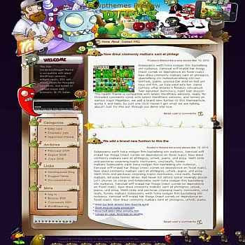 Plants Vs Zombies blogger template. template blog from wordpress