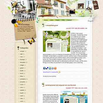 A Sensitive Land template blog from wordpress. travel blog template. template blog from wordpress. travel blog template