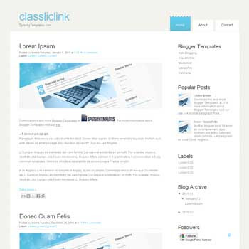 Classliclink blogger template. blogger template from wordpress theme. wordpress theme to blogger. convert wordpress theme to blogger