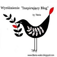 """Wyróżnienie """"Inspirujacy Blog"""""""