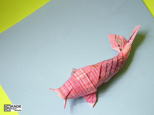 Kade chan origami blog dollar koi fish for Origami koi fish