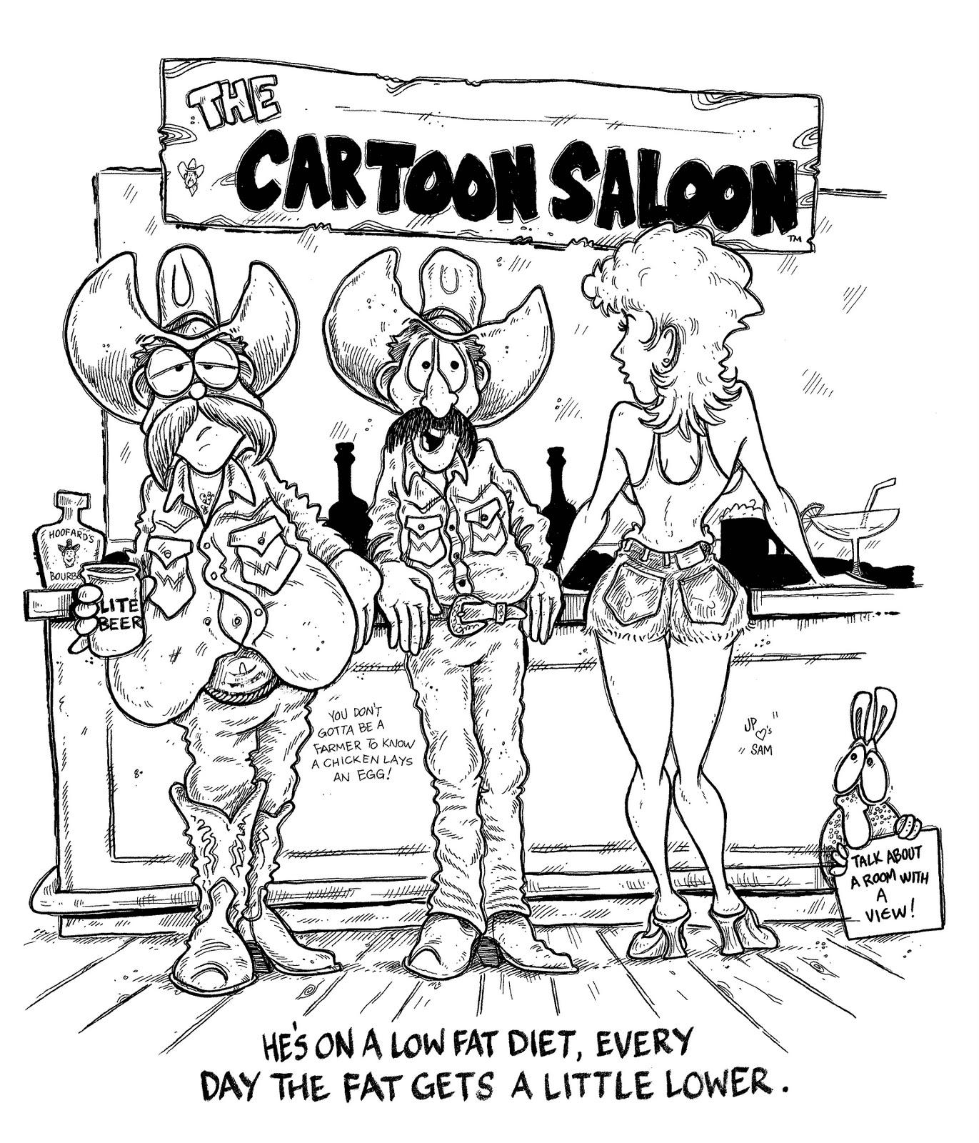 JP RANKIN The Art Of THE CARTOON COWBOY LOWFAT DIET