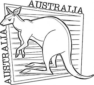 Kangaroo Coloring Pages Preschool