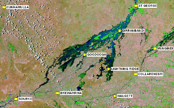 Mapping Services Australia MODIS Flood Imagery