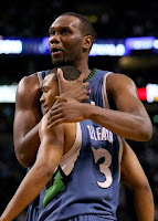 Timberwolves Players hugging on the court