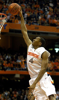 New Timberwolf Wesley Johnson dunking at Syracuse