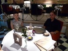 En el restaurante Santceloni