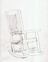 How To Draw A Rocking Chair Step By Step Final drawing of an egret