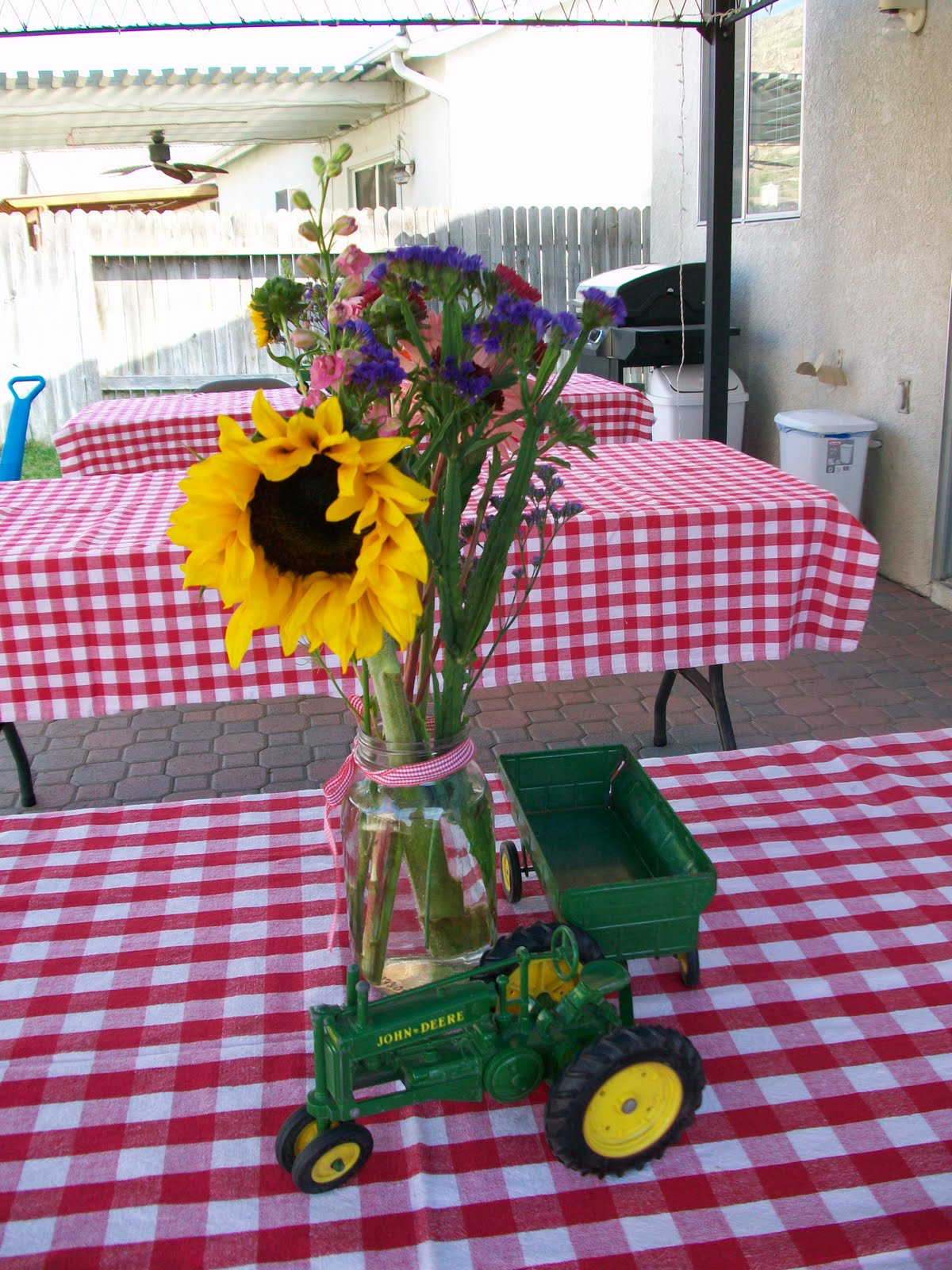 starting out tractor baby shower