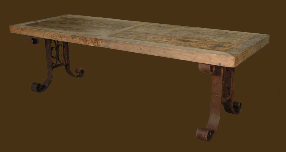 "When you Google ""salvaged wood table"" and"