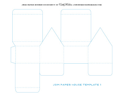3D Paper House Patterns http://justsomethingimade.com/2010/04/little-paper-houses/