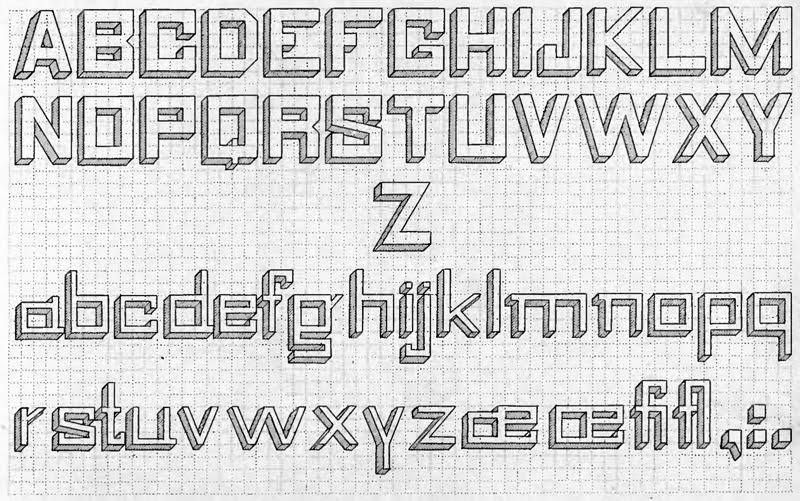 design  grid lettering