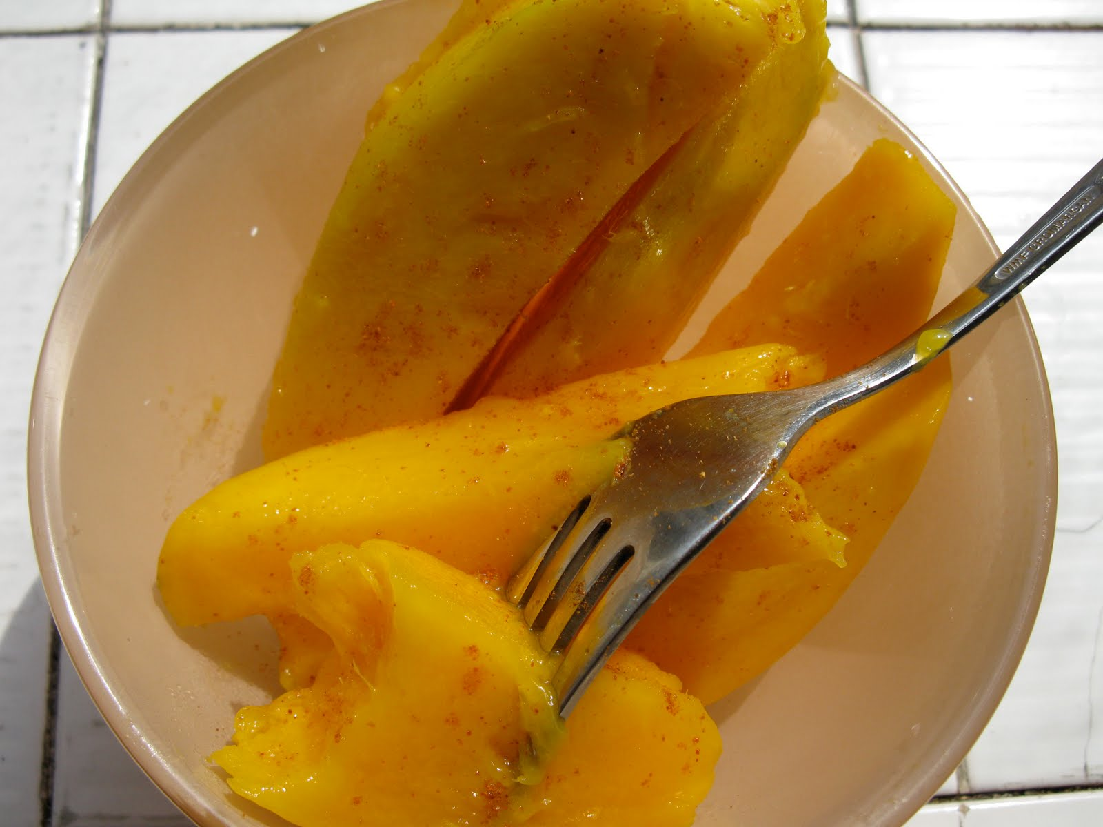 Cook Without a Kitchen: Mango with Cayenne