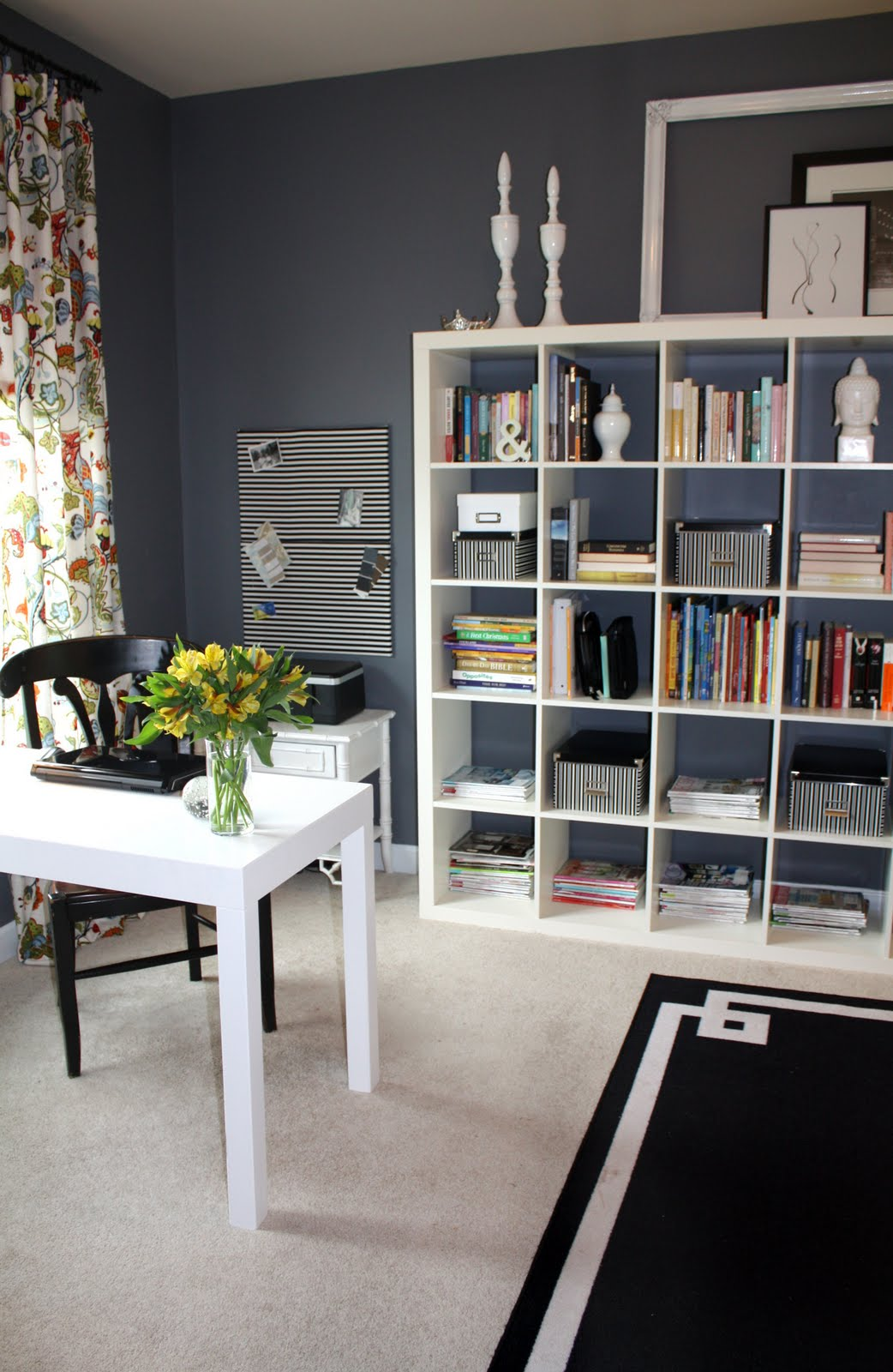 Home office guest room combo ideas living room interior for Ikea office ideas