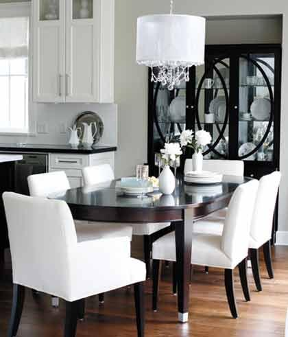 and if you think china cabinets are only for traditional dining rooms here are some great examples of how they can blend with more modern decor