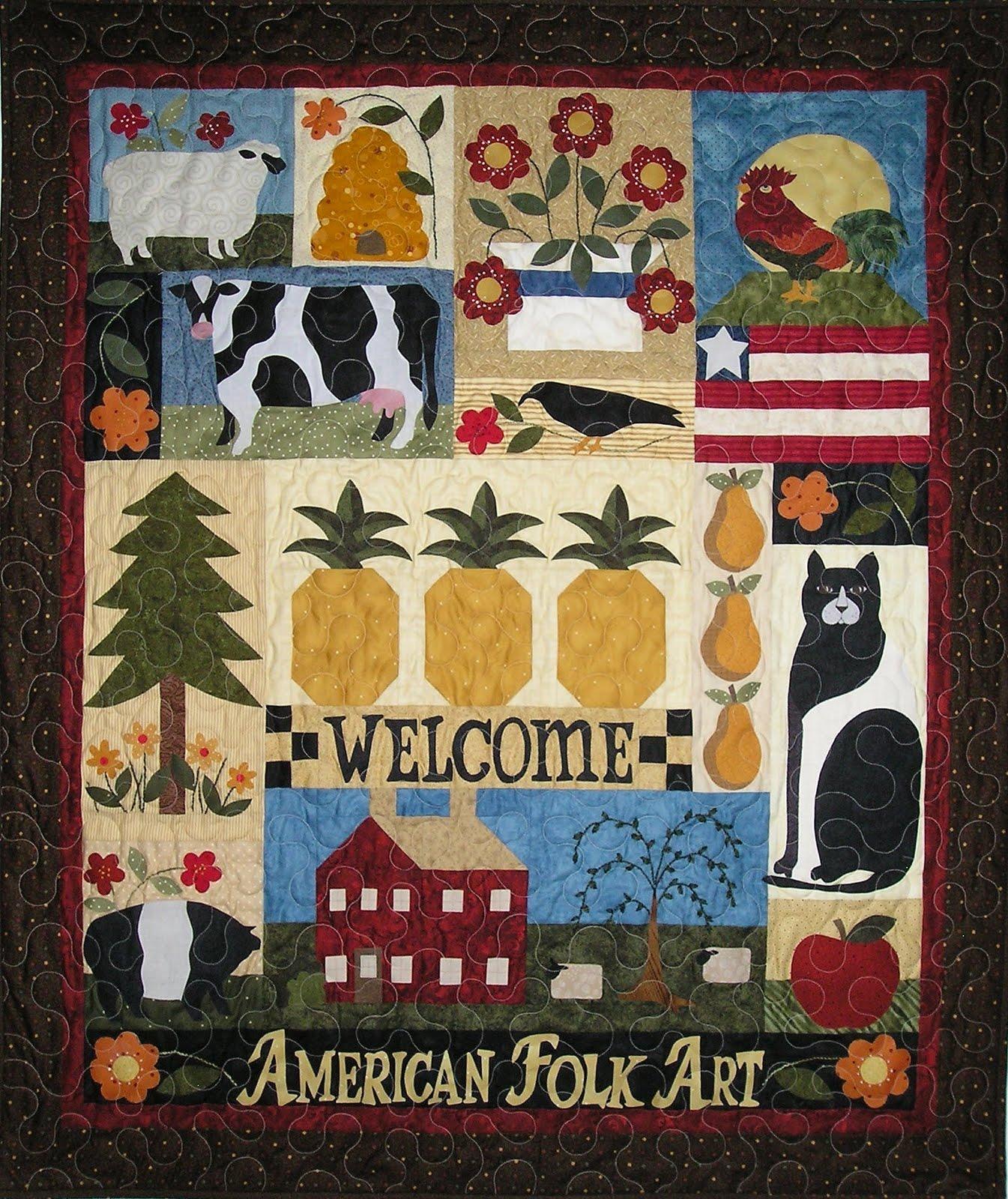 american folk art patterns