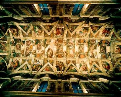 painting the sistine chapel by michelangelo religion essay Free essay: the sistine chapel was the only one of michelangelo's large scale projects that was insisted by religious leaders such as julius ii and paul iii.