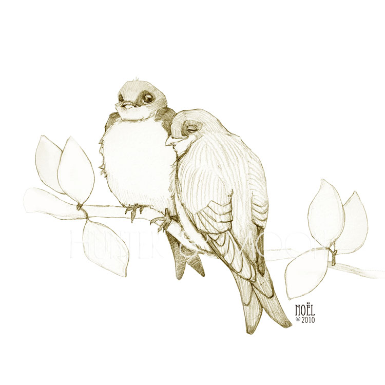Love Bird Sketch | Www.pixshark.com - Images Galleries With A Bite!