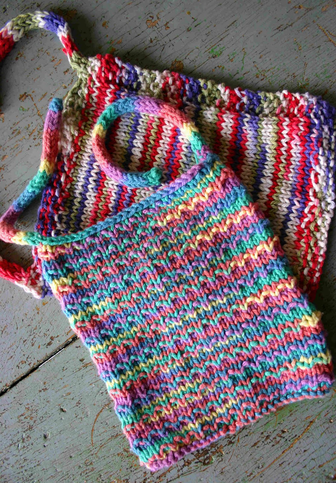 Knit Bibs -- Andalusion Pattern