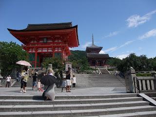 La entrada principal de Kiyomizu-dera